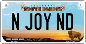 N Joy ND North Dakota Wholesale Novelty Metal Bicycle Plate BP-10702