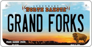 Grand Forks North Dakota Wholesale Novelty Metal Bicycle Plate BP-10705
