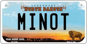 Minot North Dakota Wholesale Novelty Metal Bicycle Plate BP-10706
