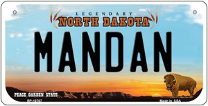 Mandan North Dakota Wholesale Novelty Metal Bicycle Plate BP-10707