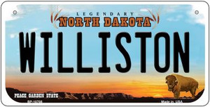 Williston North Dakota Wholesale Novelty Metal Bicycle Plate BP-10708