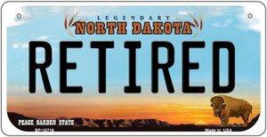 Retired North Dakota Wholesale Novelty Metal Bicycle Plate BP-10716