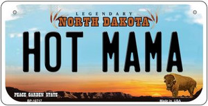 Hot Mama North Dakota Wholesale Novelty Metal Bicycle Plate BP-10717