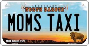 Moms Taxi North Dakota Wholesale Novelty Metal Bicycle Plate BP-10722