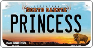 Princess North Dakota Wholesale Novelty Metal Bicycle Plate BP-10723