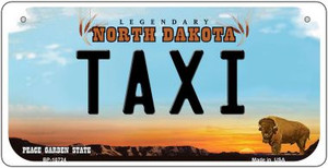 Taxi North Dakota Wholesale Novelty Metal Bicycle Plate BP-10724