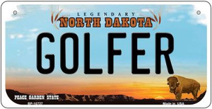 Golfer North Dakota Wholesale Novelty Metal Bicycle Plate BP-10727