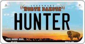Hunter North Dakota Wholesale Novelty Metal Bicycle Plate BP-10728