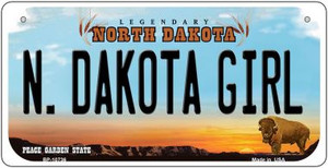 N Dakota Girl Wholesale Novelty Metal Bicycle Plate BP-10736