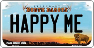 Happy Me North Dakota Wholesale Novelty Metal Bicycle Plate BP-10738