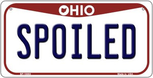 Spoiled Ohio Wholesale Novelty Metal Bicycle Plate BP-10083