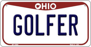 Golfer Ohio Wholesale Novelty Metal Bicycle Plate BP-10094
