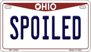 Spoiled Ohio Wholesale Novelty Metal Motorcycle Plate MP-10083