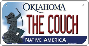 The Couch Oklahoma Wholesale Novelty Metal Bicycle Plate BP-6253