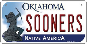 Sooners Oklahoma Wholesale Novelty Metal Bicycle Plate BP-6261