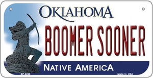 Boomer Sooner Oklahoma Wholesale Novelty Metal Bicycle Plate BP-6268