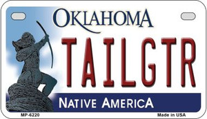 Tailgtr Oklahoma Wholesale Novelty Metal Motorcycle Plate MP-6220