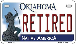 Retired Oklahoma Wholesale Novelty Metal Motorcycle Plate MP-6224
