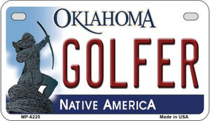 Golfer Oklahoma Wholesale Novelty Metal Motorcycle Plate MP-6225
