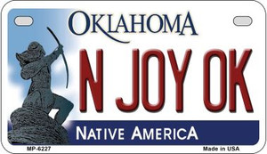 N Joy OK Oklahoma Wholesale Novelty Metal Motorcycle Plate MP-6227