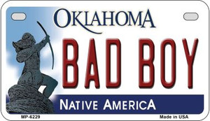 Bad Boy Oklahoma Wholesale Novelty Metal Motorcycle Plate MP-6229