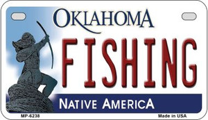 Fishing Oklahoma Wholesale Novelty Metal Motorcycle Plate MP-6238