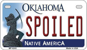 Spoiled Oklahoma Wholesale Novelty Metal Motorcycle Plate MP-6243