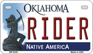 Rider Oklahoma Wholesale Novelty Metal Motorcycle Plate MP-6245