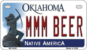 MMM Beer Oklahoma Wholesale Novelty Metal Motorcycle Plate MP-6249
