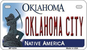 Oklahoma City Wholesale Novelty Metal Motorcycle Plate MP-6254
