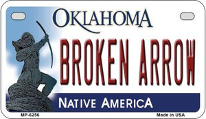 Broken Arrow Oklahoma Wholesale Novelty Metal Motorcycle Plate MP-6256