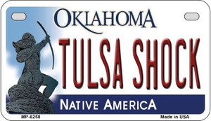 Tulsa Shock Oklahoma Wholesale Novelty Metal Motorcycle Plate MP-6258