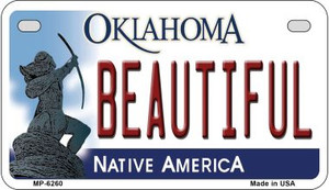 Beautiful Oklahoma Wholesale Novelty Metal Motorcycle Plate MP-6260