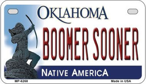 Boomer Sooner Oklahoma Wholesale Novelty Metal Motorcycle Plate MP-6268