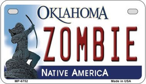 Zombie Oklahoma Wholesale Novelty Metal Motorcycle Plate MP-6752