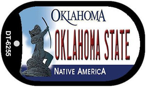 Oklahoma State Wholesale Novelty Metal Dog Tag Necklace DT-6255