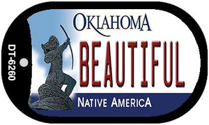 Beautiful Oklahoma Wholesale Novelty Metal Dog Tag Necklace DT-6260