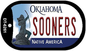 Sooners Oklahoma Wholesale Novelty Metal Dog Tag Necklace DT-6261