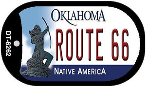 Route 66 Oklahoma Wholesale Novelty Metal Dog Tag Necklace DT-6262