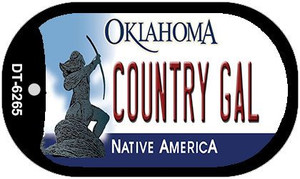 Country Girl Oklahoma Wholesale Novelty Metal Dog Tag Necklace DT-6265