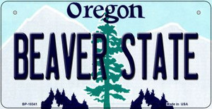Beaver State Oregon Wholesale Novelty Metal Bicycle Plate BP-10341
