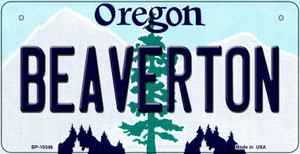 Beaverton Oregon Wholesale Novelty Metal Bicycle Plate BP-10346