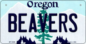 Beavers Oregon Wholesale Novelty Metal Bicycle Plate BP-10356