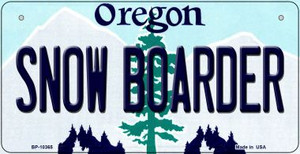 Snow Boarder Oregon Wholesale Novelty Metal Bicycle Plate BP-10365