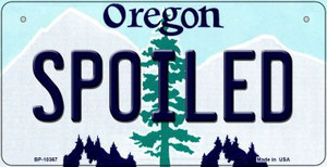 Spoiled Oregon Wholesale Novelty Metal Bicycle Plate BP-10367
