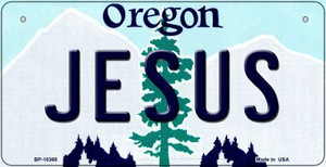 Jesus Oregon Wholesale Novelty Metal Bicycle Plate BP-10368