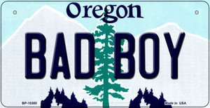 Bad Boy Oregon Wholesale Novelty Metal Bicycle Plate BP-10380