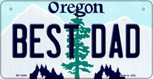 Best Dad Oregon Wholesale Novelty Metal Bicycle Plate BP-10382