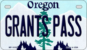 Grants Pass Oregon Wholesale Novelty Metal Motorcycle Plate MP-10352
