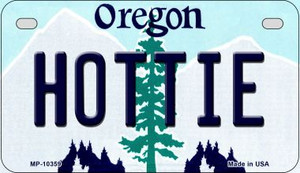 Hottie Oregon Wholesale Novelty Metal Motorcycle Plate MP-10359